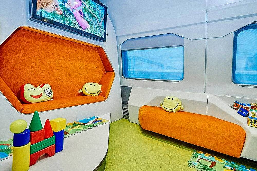 Так выглядит детская комната в поезде № 738/737, № 740/739 Москва — Воронеж