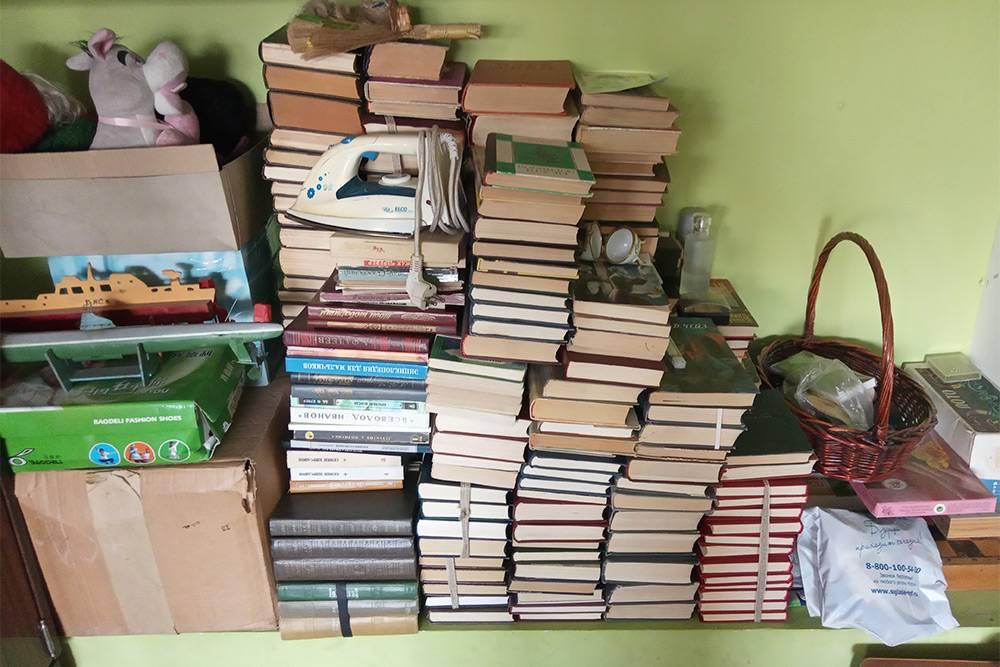 Вот в каком виде сейчас большая часть моей библиотеки