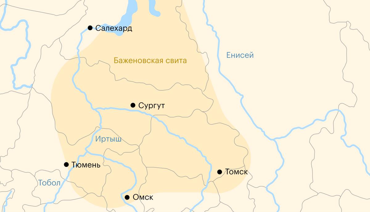 Географическое расположение Баженовской свиты. Источник: «Газпром-нефть»