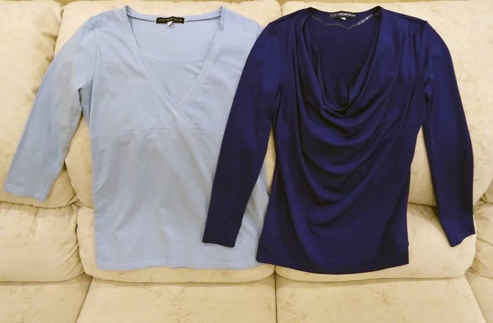 Я купила две блузки за 700<span class=ruble>Р</span> и 750<span class=ruble>Р</span>. Но они оказались бесполезны: я носила обычную одежду, а в людных местах кормила сцеженным молоком из бутылки. На «Авито» продают блузки для&nbsp;кормления от 130<span class=ruble>Р</span>