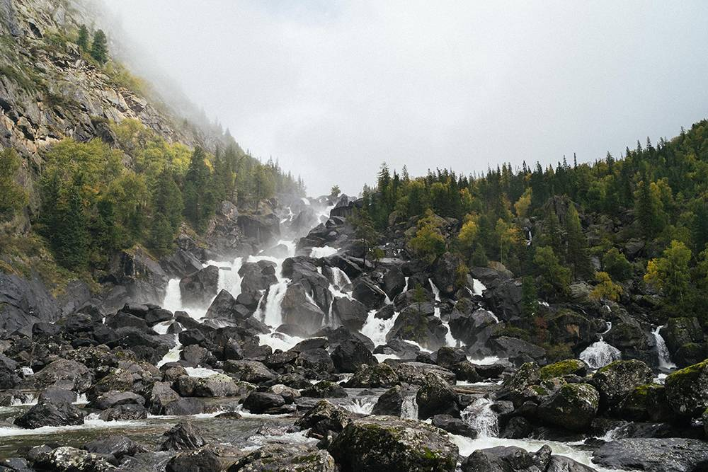 Водопад Учар во всей красе