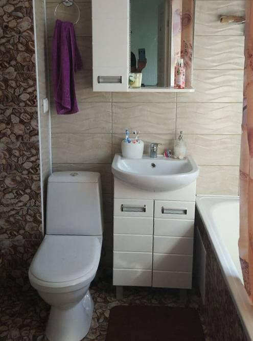 Так выглядит плитка в ванной