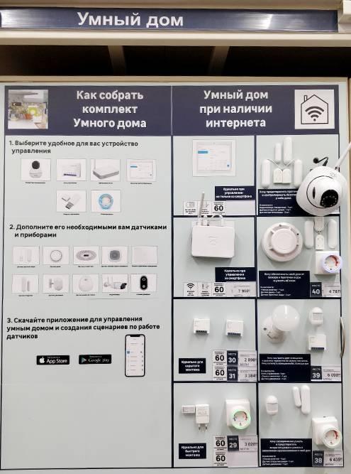 На стенде в «Леруа» можно посмотреть сценарии применения отдельных комплектующих