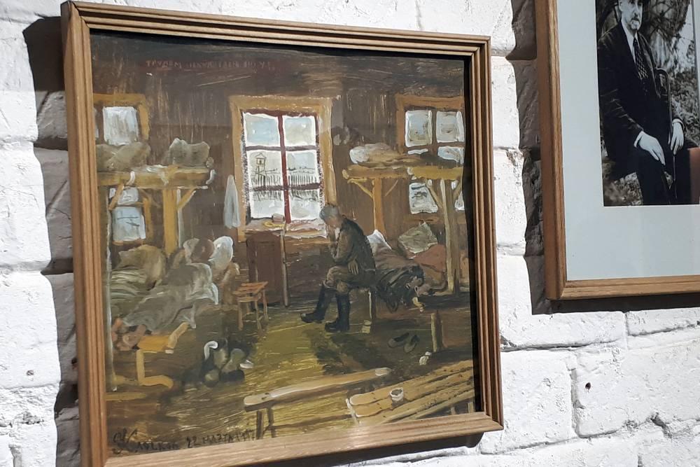 На стенах висят лагерные картины Александра Колоскова. Искусство давало политическим заключенным силы и надежду