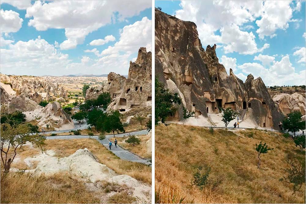 Отверстия вскалах — этокельи православных монахов, которые жили здесь со2века нашей эры