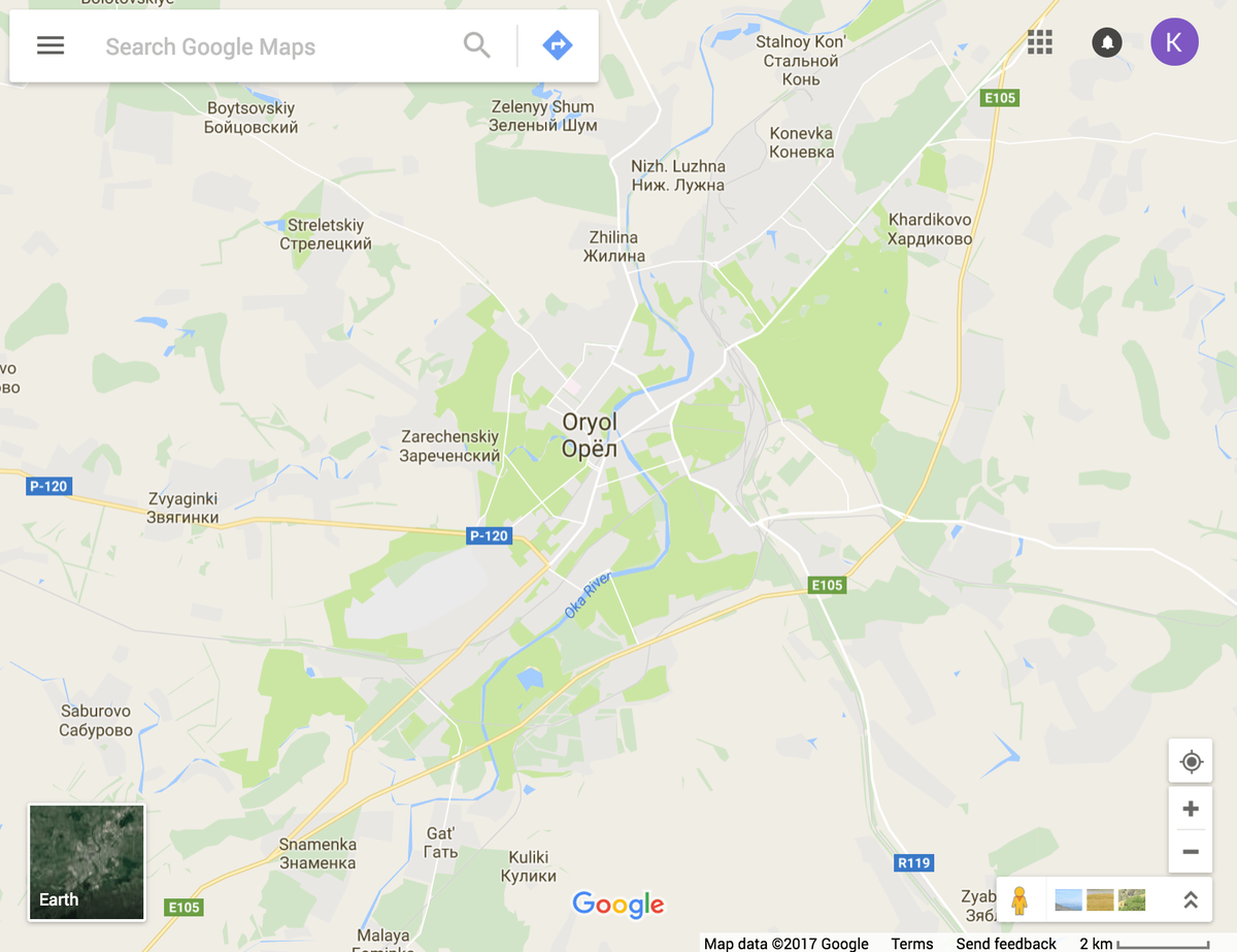 Тип дороги можно узнать по буквенному индексу, который стоит возле номера автотрассы на карте