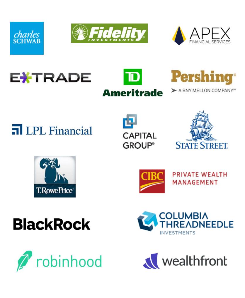 Логотипы некоторых клиентов Virtu. Источник: презентация компании, слайд5