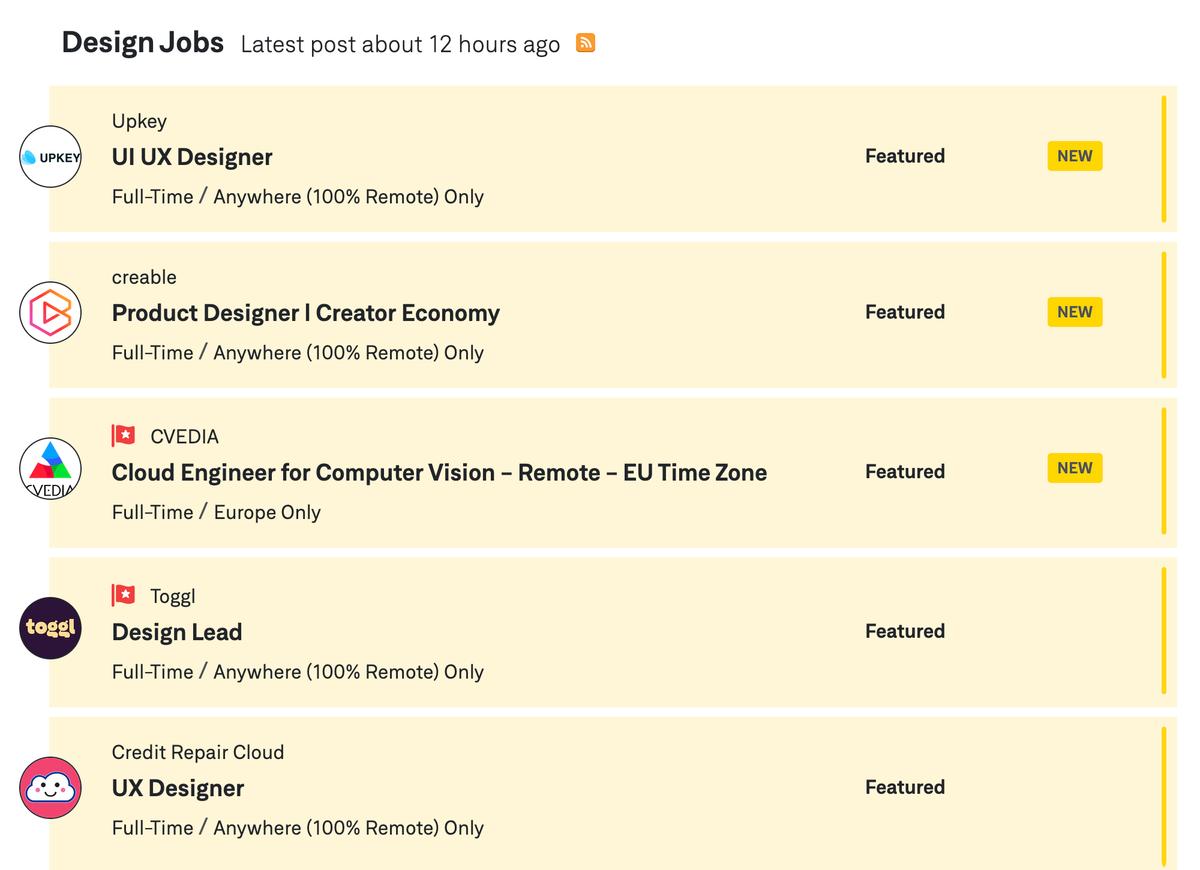 Поиск на сайте организован сразу по категориям профессий