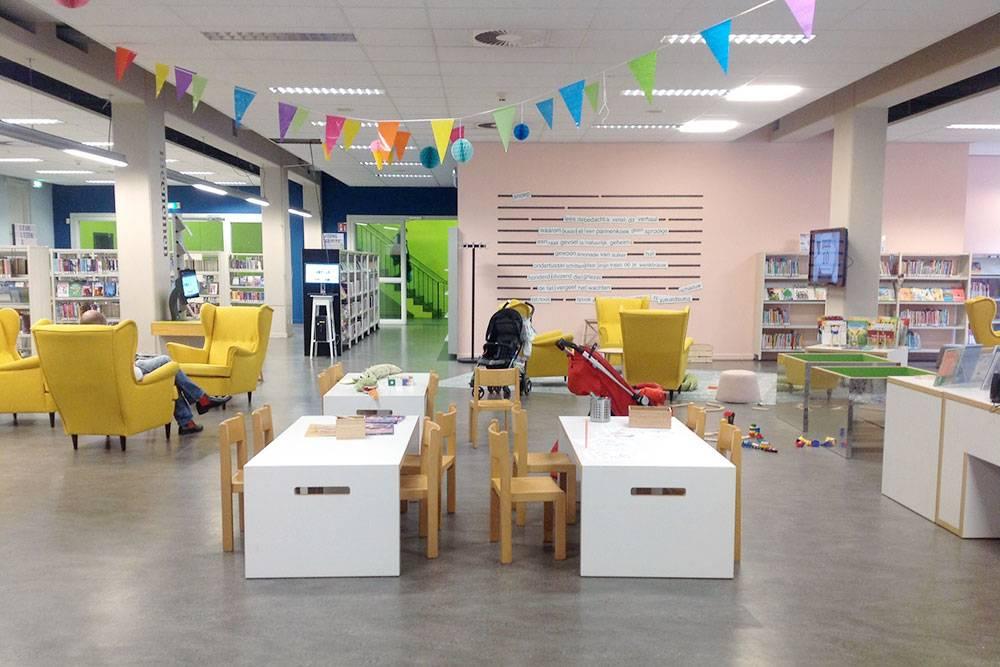 Детский читальный зал в библиотеке в центре Гронингена