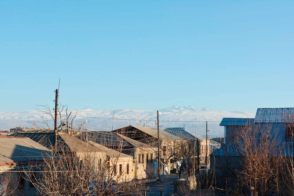 Вид на Арагац