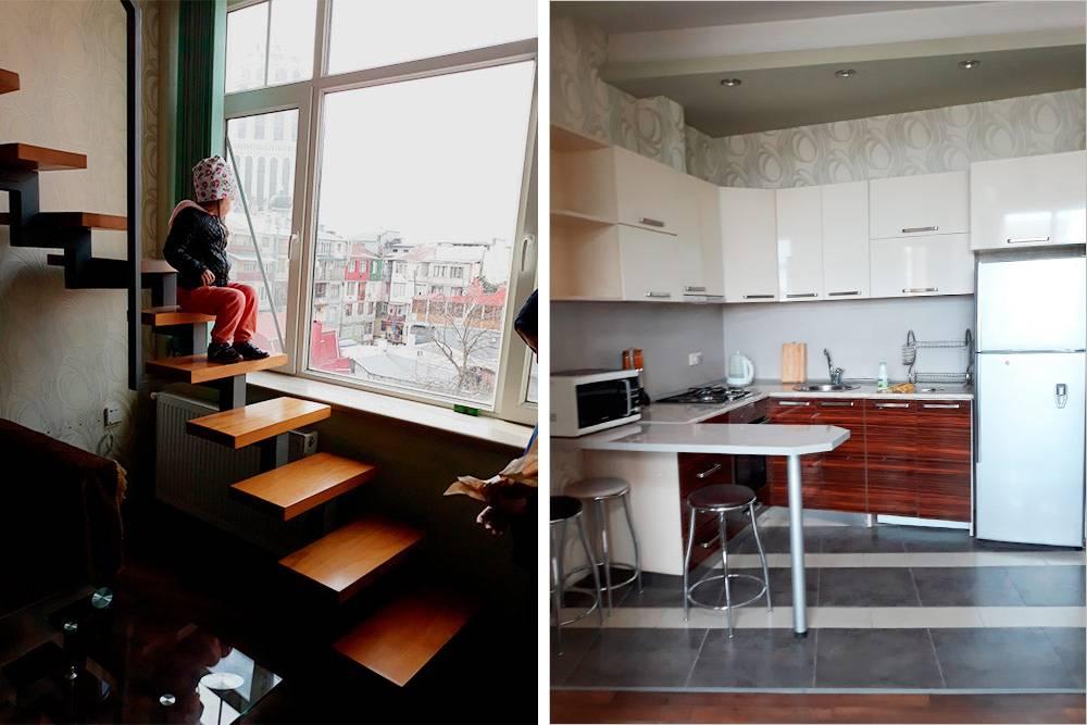 Квартира была двухъярусной — одну комнату владельцы сделали из чердака