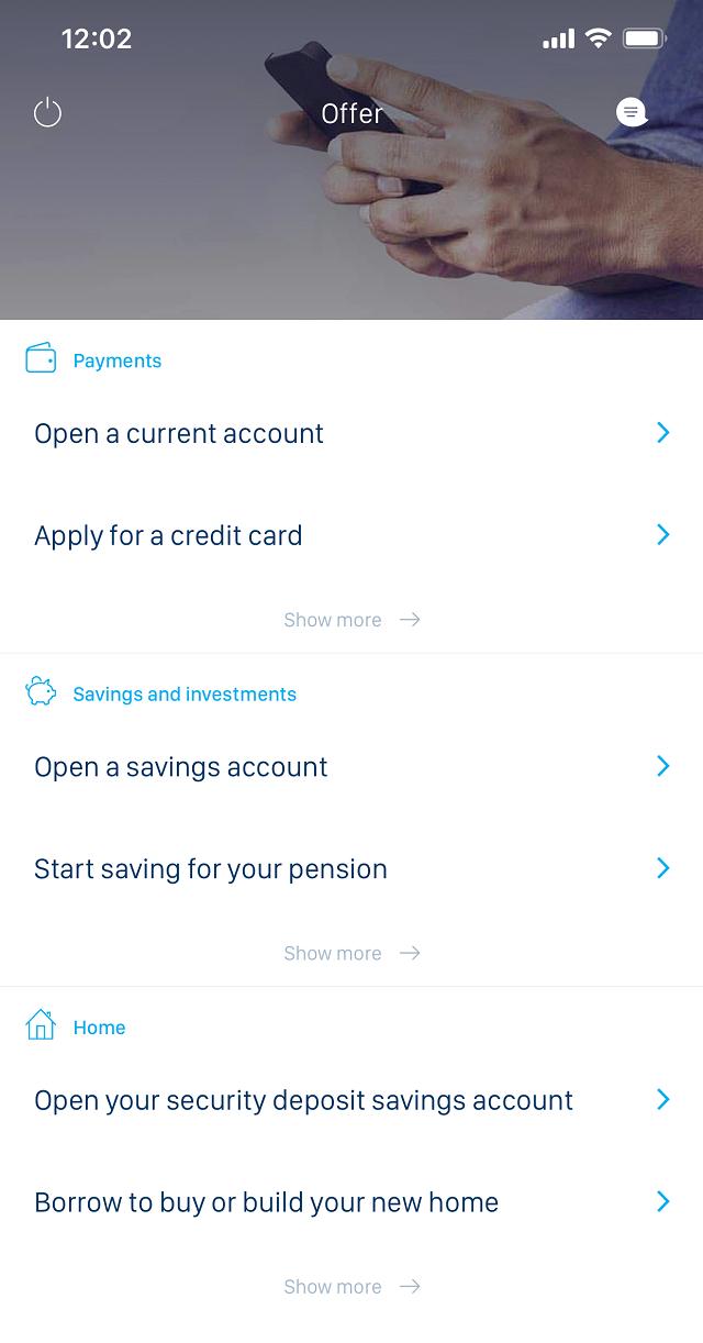 В приложении банка KBC понятный интерфейс
