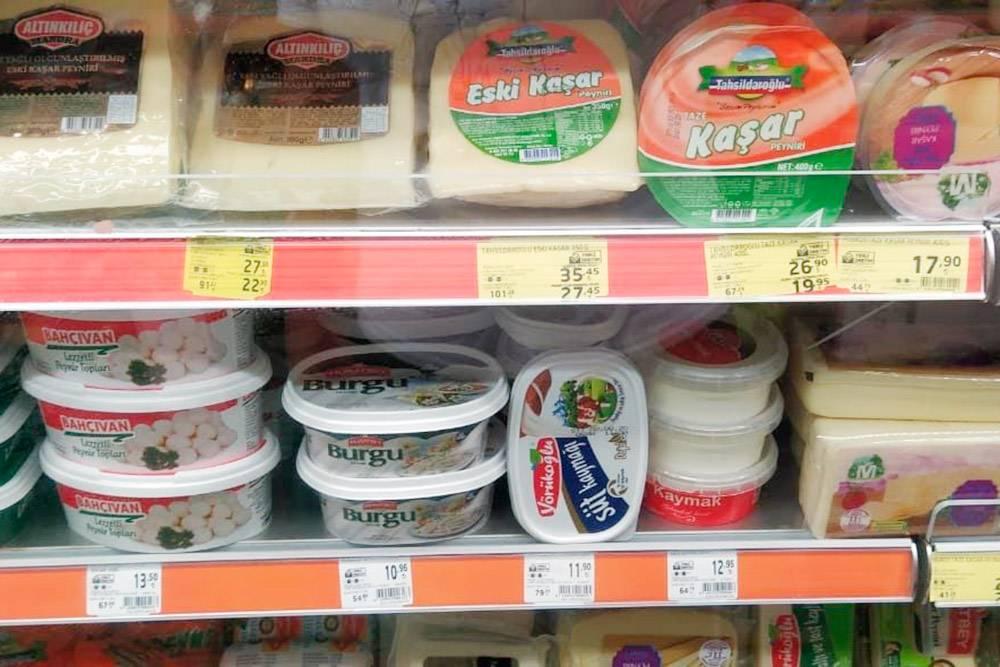 Ассортимент в супермаркетах Антальи похож на московский