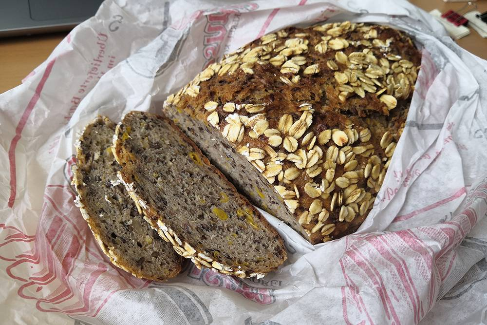 Adenauer-brot из пекарни Balkhausen обошелся мне в 3,5€ (301<span class=ruble>Р</span>)