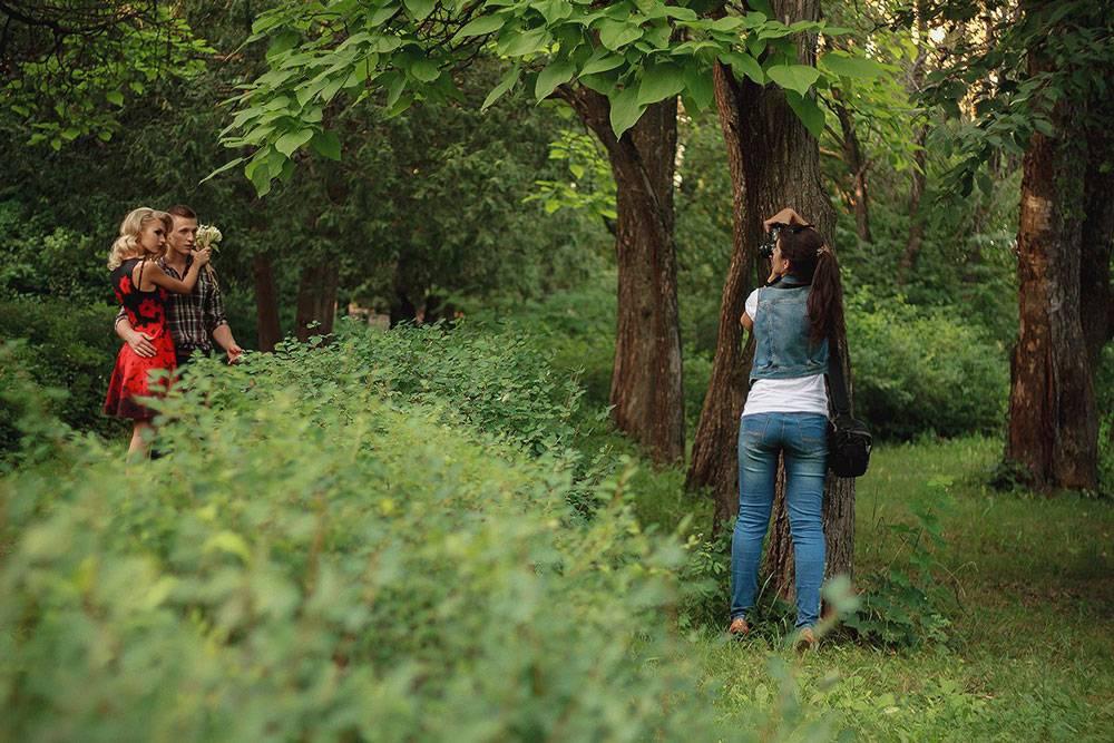 Бэкстейдж со съемок в лесу