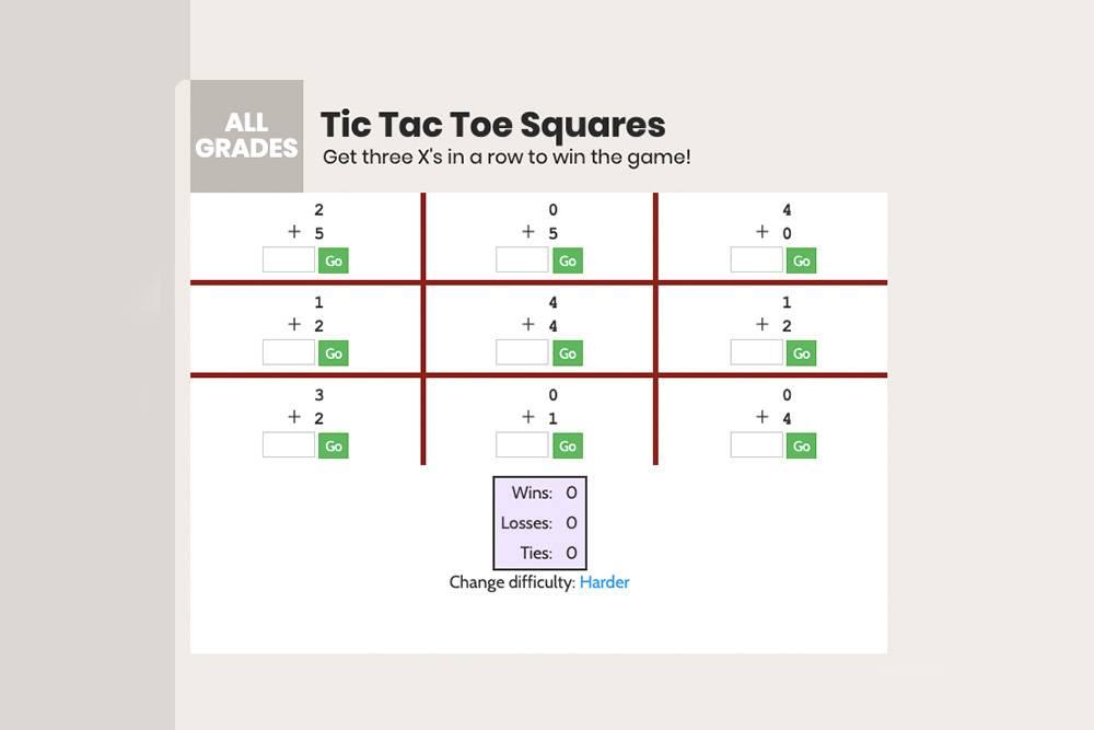 Математические «крестики-нолики»: чтобы сделать ход, нужно решить пример