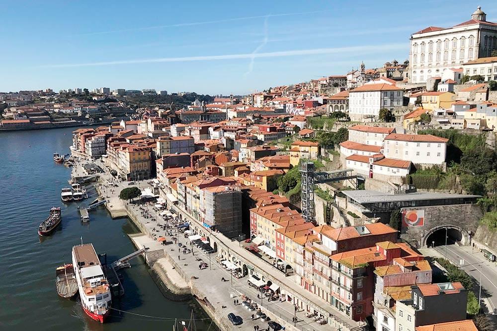 Вид на Порту с моста Дона Луиша I