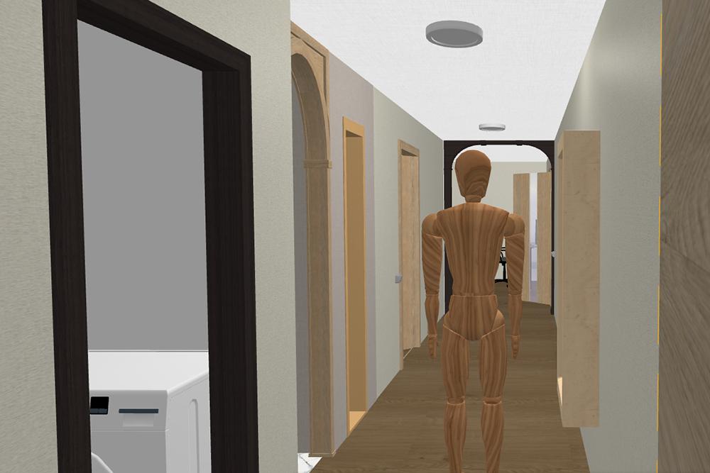 Во время ремонта я сделал трехмерный план квартиры и «гулял» по ней