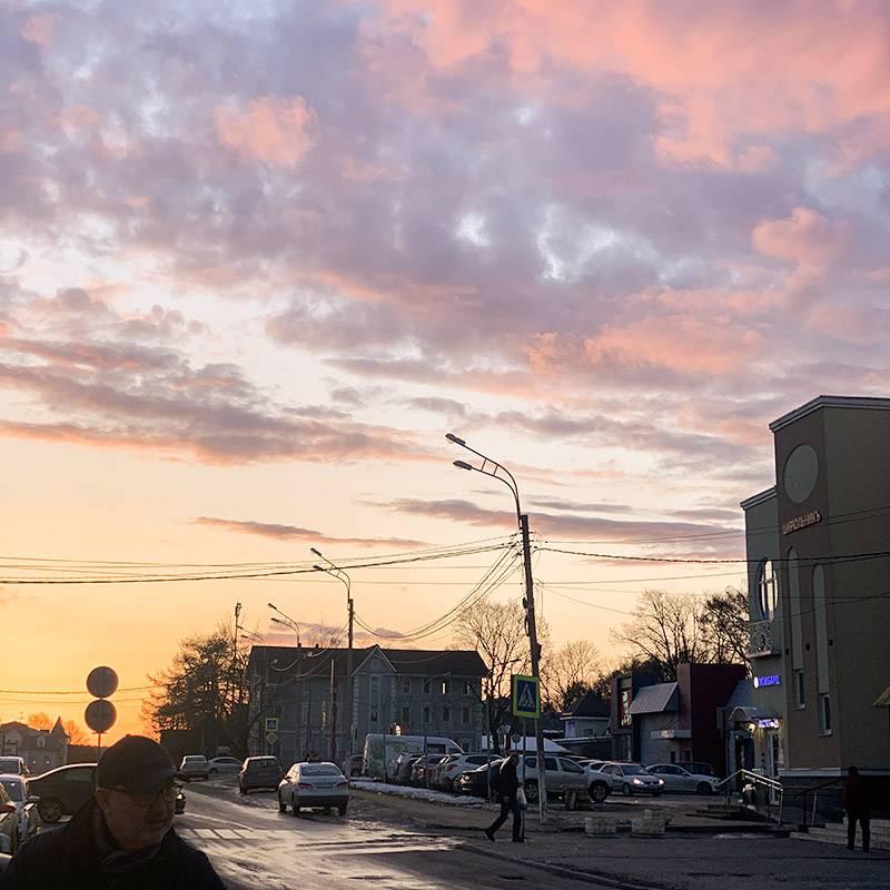 Вот такое красивое небо провожало нас в Сергиевом Посаде