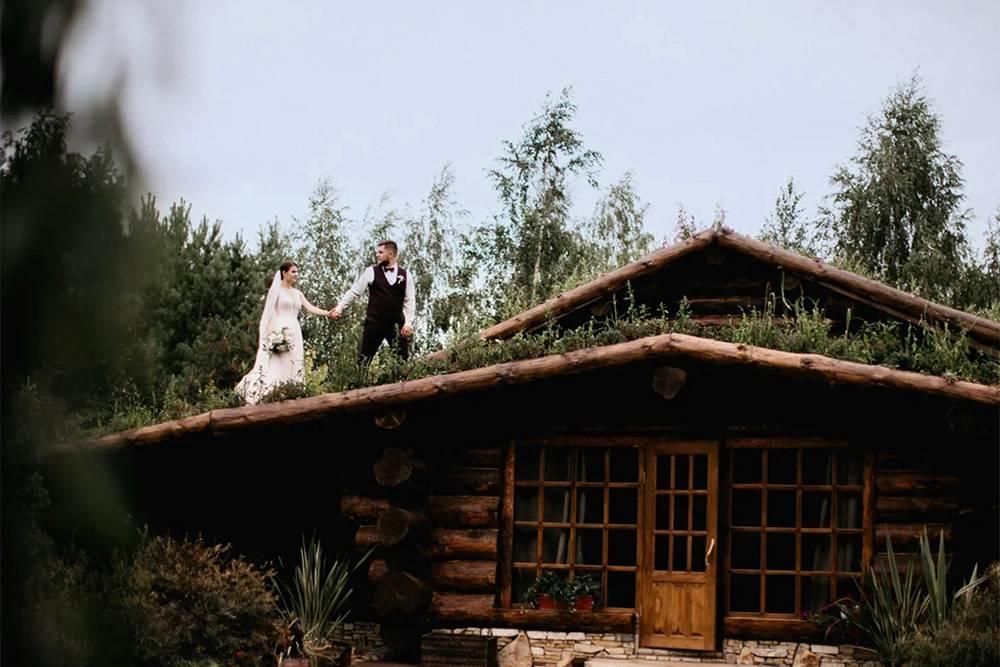 Так выглядел деревянный домик, в котором ночевали гости