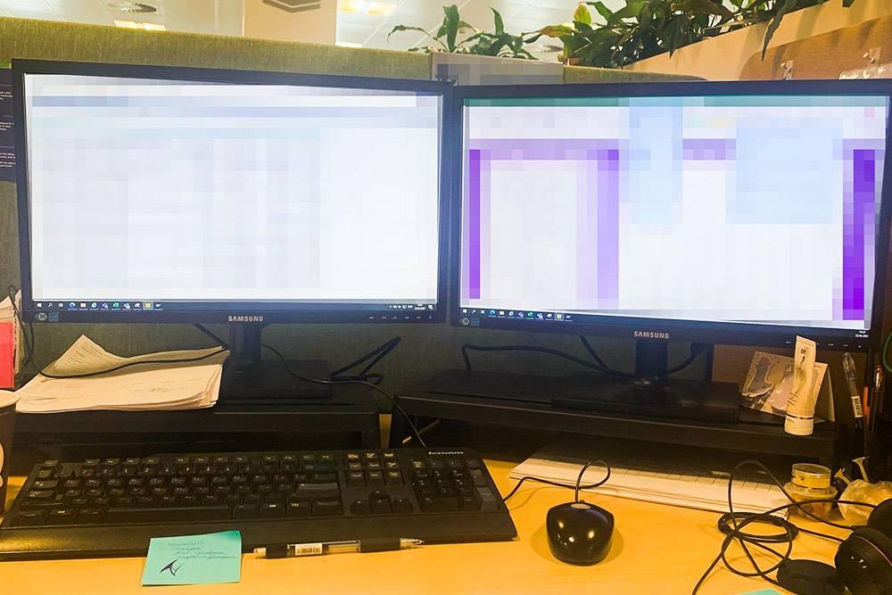 Мое рабочее место в офисе