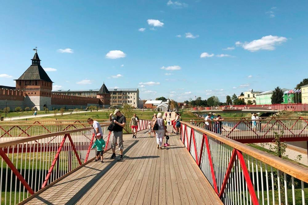 На месте новой набережной раньше было высохшее русло реки