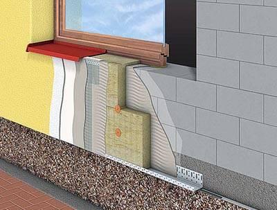 Послойное утепление в системе «мокрый фасад». Источник: «Матстрой»