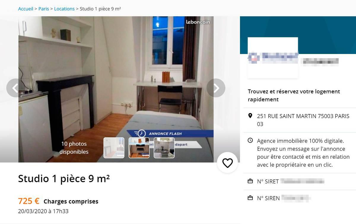 Комната размером 9 м²: с одной стороны кровать, с другой — кухня. За 560€ (48 860<span class=ruble>Р</span>) в месяц. Зато в центре Парижа!