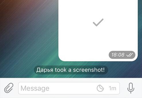 Телеграм знает, когда кто-то из участников секретного чата делает скриншот