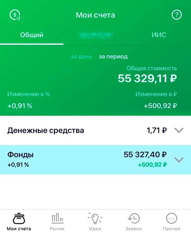 Пока я заработала на ИИС 500<span class=ruble>Р</span>