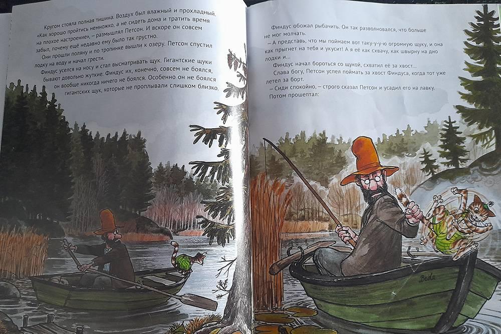 Истории проФиндуса и Петсона пишет шведский писатель Свен Нурдквист. Это фото из книги издательства «Альбус корвус»