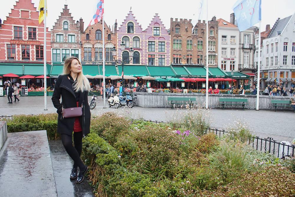 Открыточный вид центра Брюгге