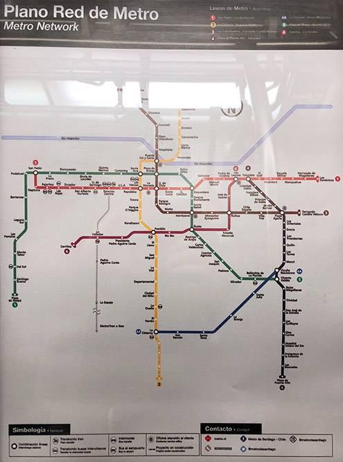 Схема метрополитена Сантьяго