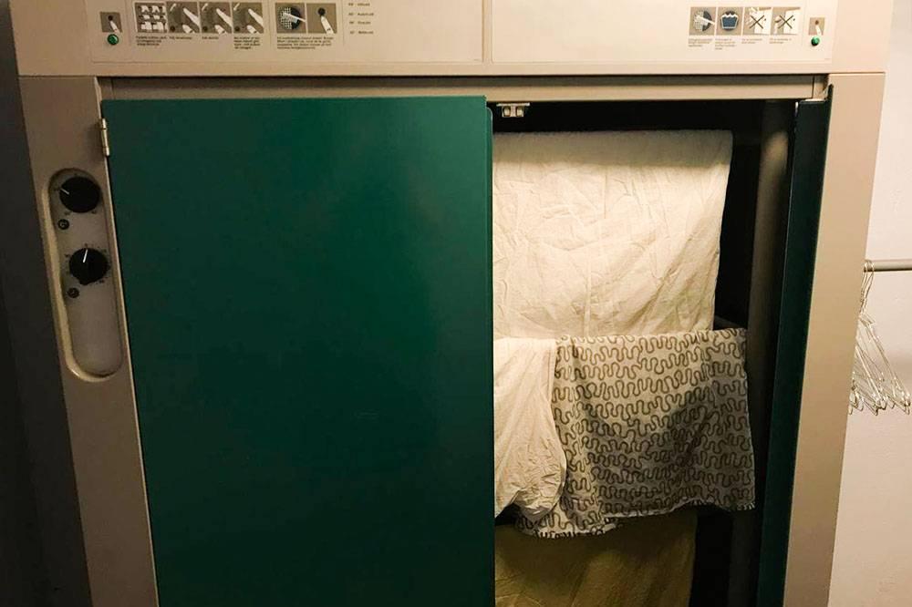 А вот машина длясушки белья