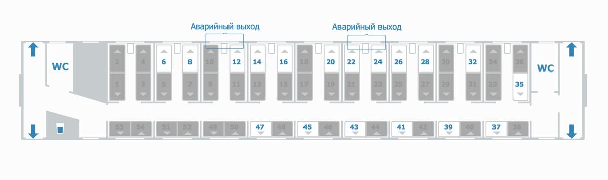 Когда вы покупаете билет за деньги, вам видны все доступные места в вагоне. Запомните, какие места вам нравятся, и укажите их при покупке премиального билета