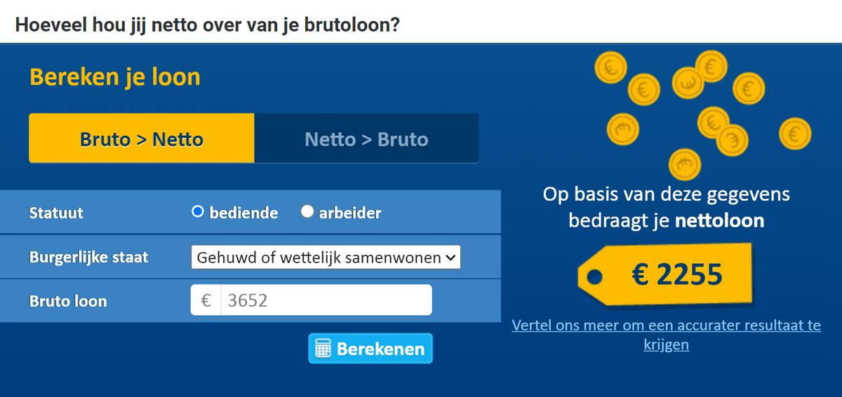 При зарплате в3652€ наруки вБельгии вы получите 2250€
