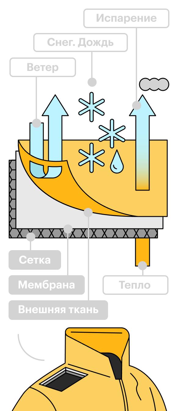 Схема работы мембраны