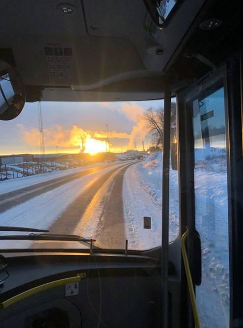 Морозное шведское утро