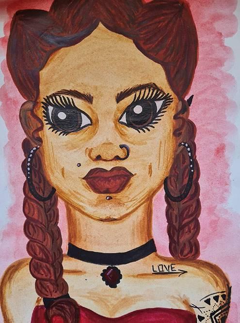 Этот портрет тоже нарисован гуашью