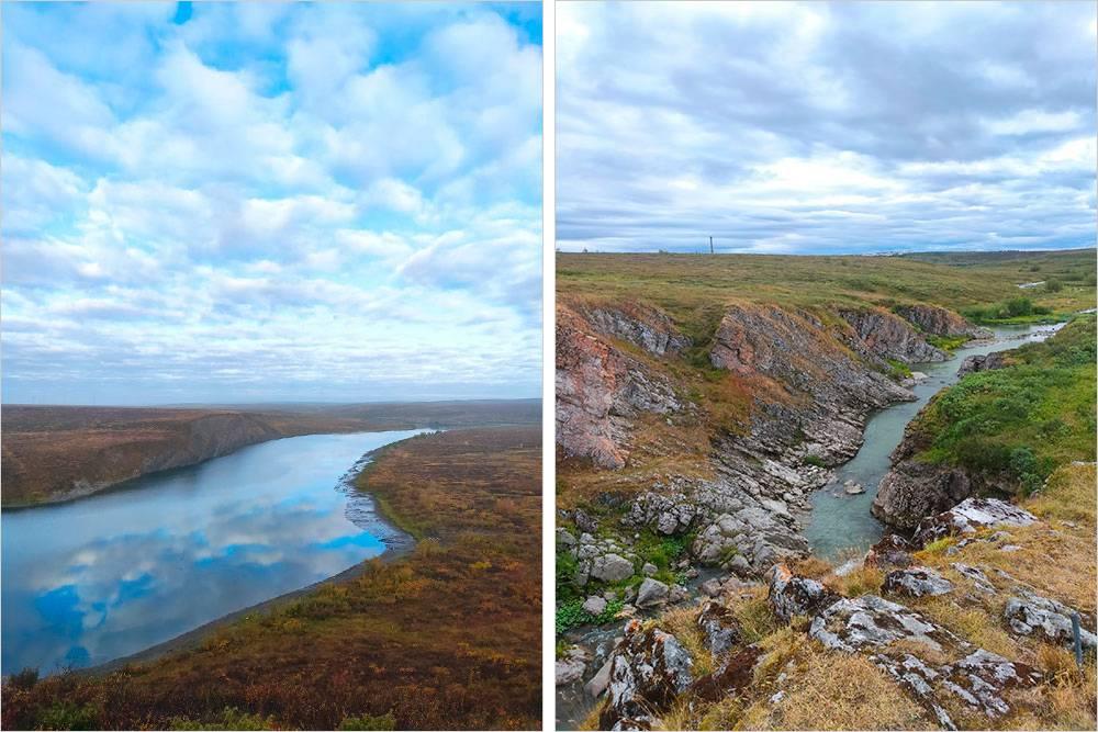 Реки, которые текут по тундре в окрестностях Воркуты