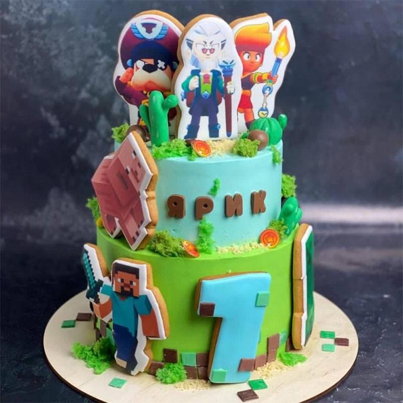 Вот такой торт мы заказали сыну на 7лет