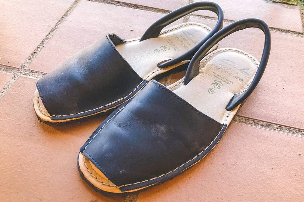 Кожаные сандалии мальоркинас