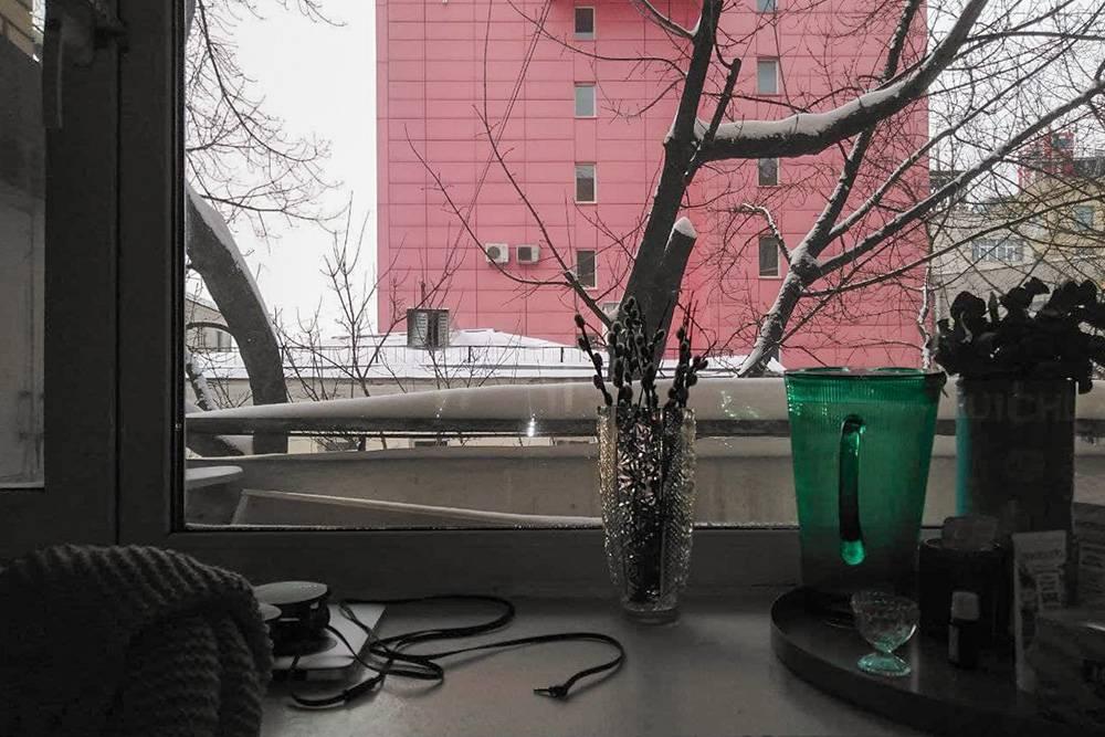 Перерыв на фото, вид из окна