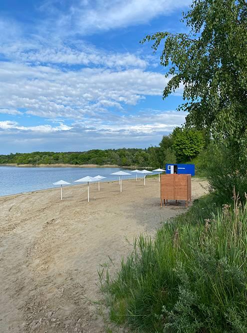 Пляж у Синявинского озера