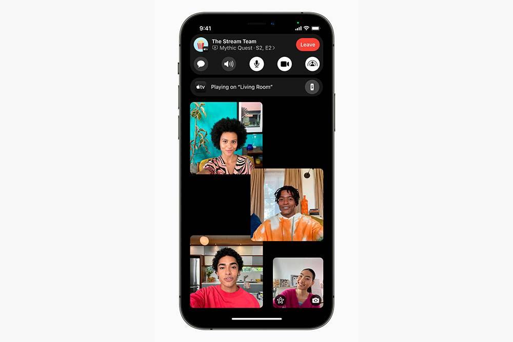 Можно вывести сериал на AppleTV, передавать его друзьям и приэтом видеть их лица на экране Айфона
