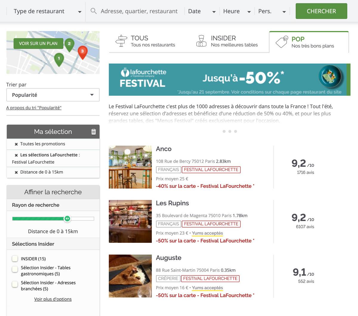 Спецпредложения на сайте «ЛяФуршетт»: скидки до 50% на все меню