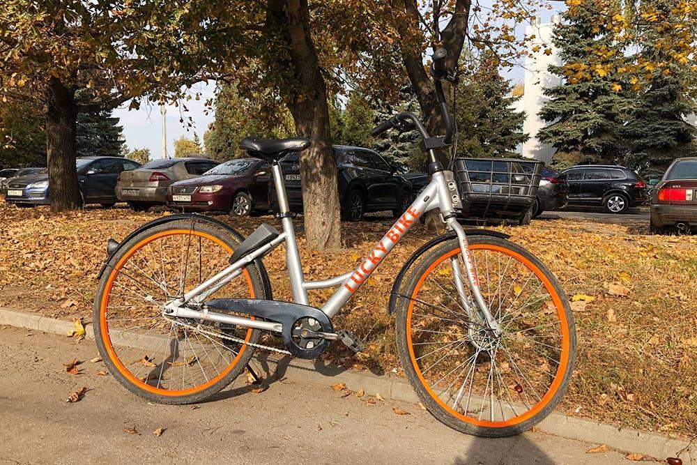 Осенью вточках проката становится меньше велосипедов, алетом здесь стояло подесять штук