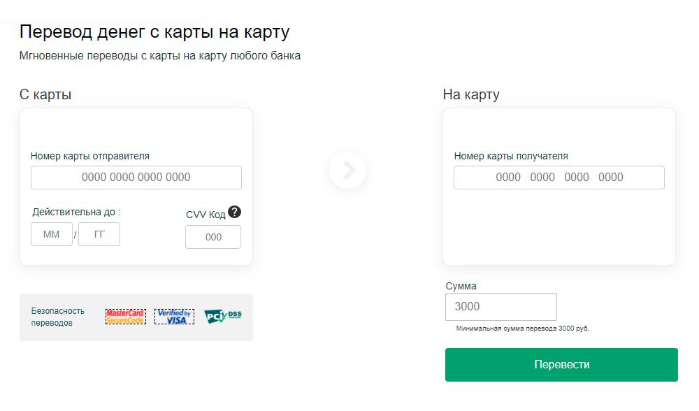 Чтобы отправить деньги, нужно указать в том числе и кодCVV, но вводить важные данные карты на подозрительном сайте опасно