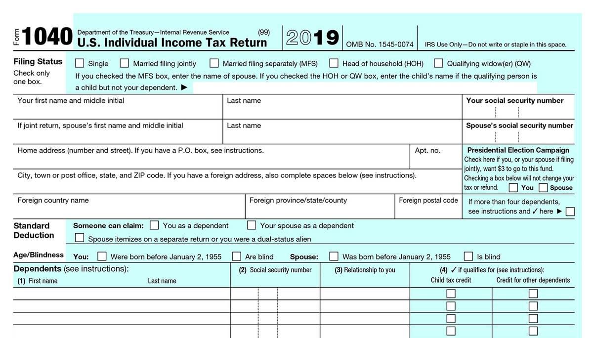 Такую налоговую декларацию каждый американец обязан заполнять ежегодно