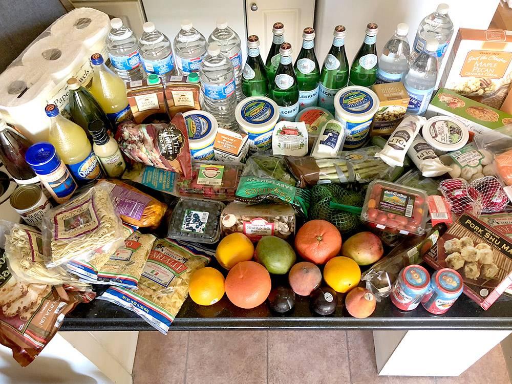 Мои продукты на 5—7 дней из магазина сети Trader's Joe. Все это стоило 160$ (10 486<span class=ruble>Р</span>)